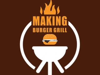 Making Burger Grill